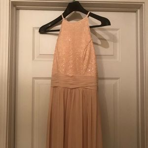 Light pink bridesmaid gown